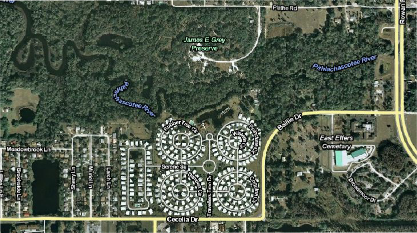 Colony Cove 55+ Mobile Home Park, New Port Richey, Florida